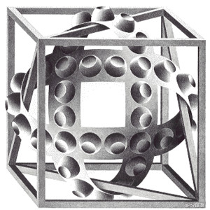 M.c.escher clipart Escher Realms Cube MiniText) of