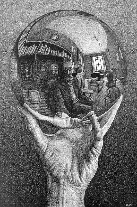 M.c.escher clipart 25 Overview Globe Hand Art