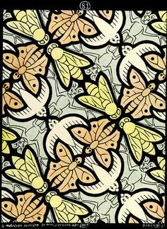 M.c.escher clipart animal Flying C Escher animal theme