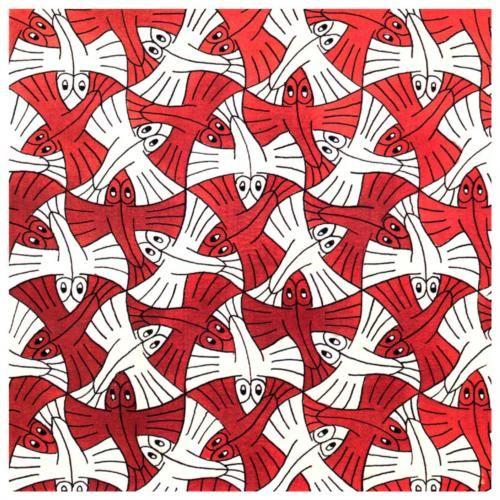 M.c.escher clipart animal C M C Escher 74