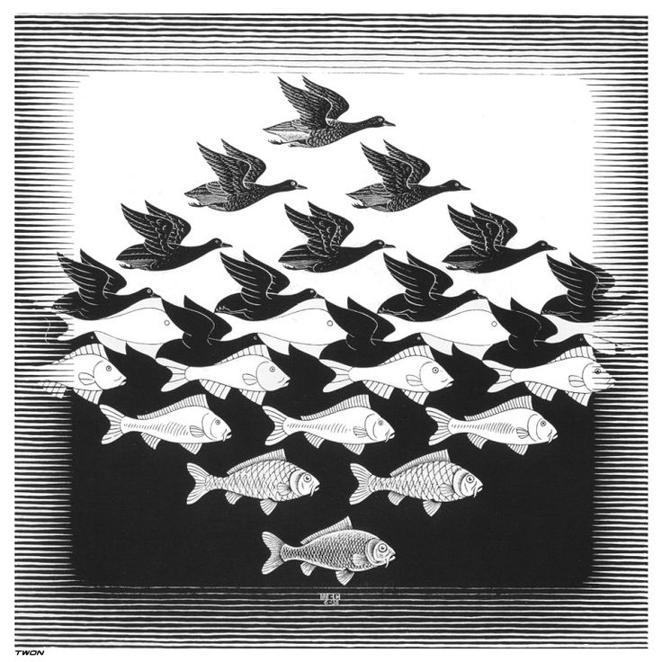 M.c.escher clipart ant On and this C best