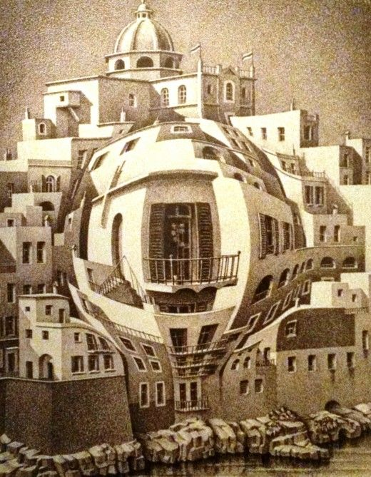 M.c.escher clipart balloon #7