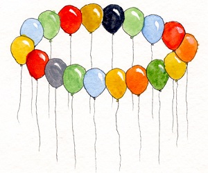M.c.escher clipart balloon #5