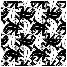 M.c.escher clipart black and white Escher  and MC &