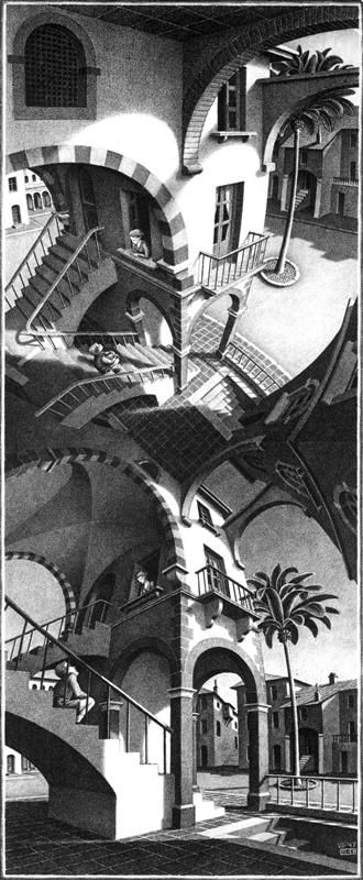 M.c.escher clipart black and white Surrealism Drawing M hands ideas