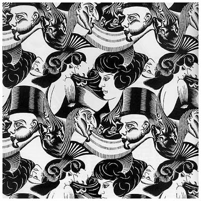 M.c.escher clipart black and white C M Psychology Esher: of