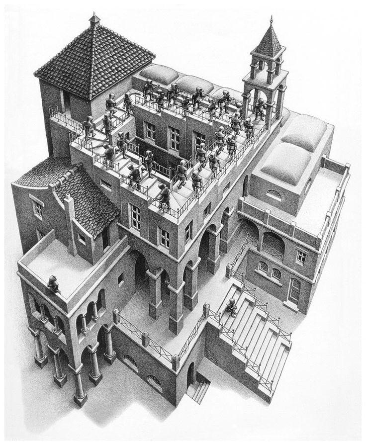 M.c.escher clipart building C Illusions Mc on C