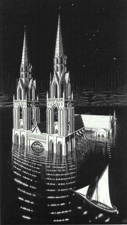 M.c.escher clipart building Pinterest Cathedral