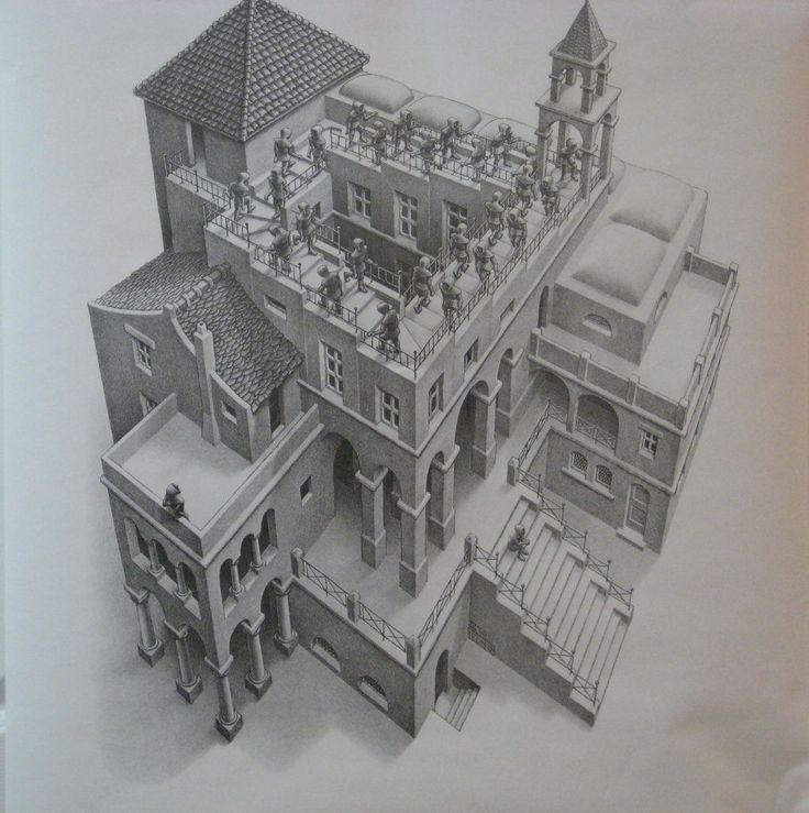 M.c.escher clipart building The Pinterest best Escher
