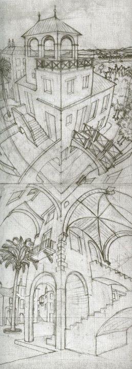 Drawn m.c.escher dinosaur Images Escher abajo