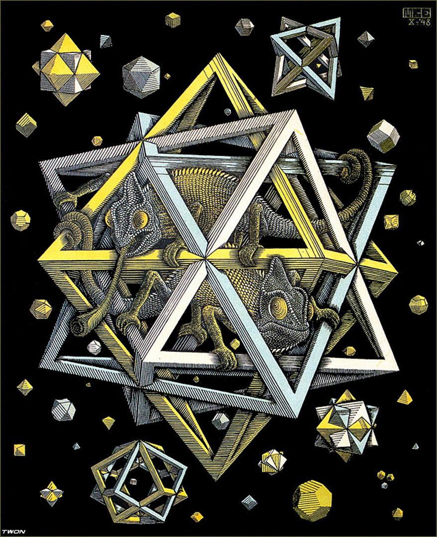 M.c.escher clipart clock Optical c Art  illusion