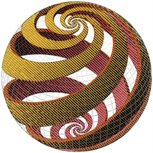 M.c.escher clipart coffee Sphere Escher Sphere Circles Spirals