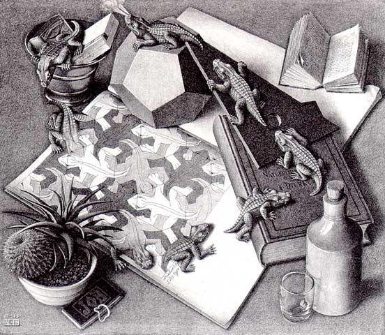 Drawn m.c.escher elephant Icon classic best (1943) of