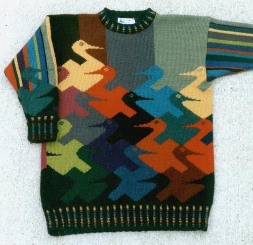 M.c.escher clipart duck Sweater MC by the