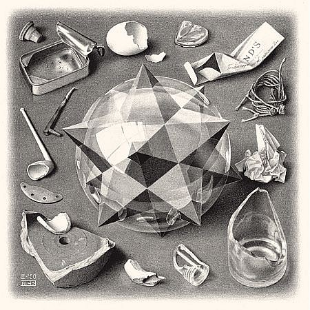 M.c.escher clipart earth (Contrast) Gallery Escher MC Sponder