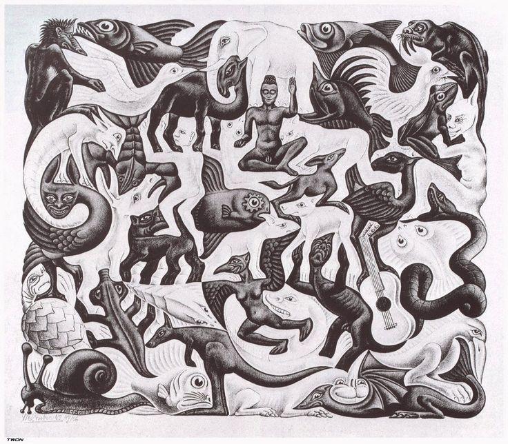 Drawn m.c.escher elephant And Pin Escher this more