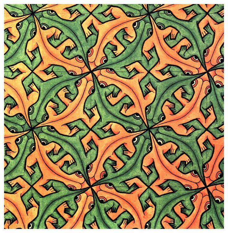 M.c.escher clipart eraser C M (tessellation (tessellation Lizard