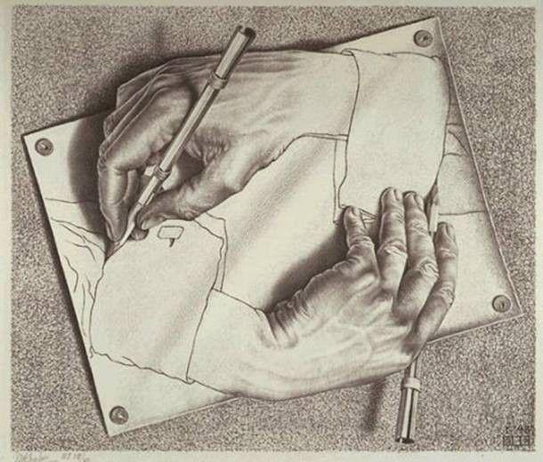 M.c.escher clipart finger About C images 12 Arte