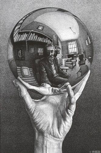 M.c.escher clipart finger Ideas Pinterest  on MC