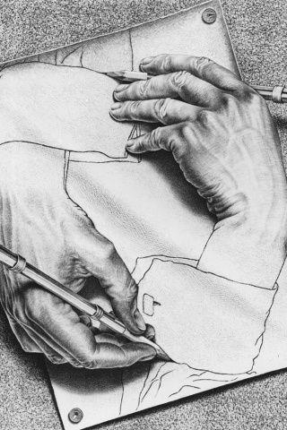 M.c.escher clipart finger We art What our renew