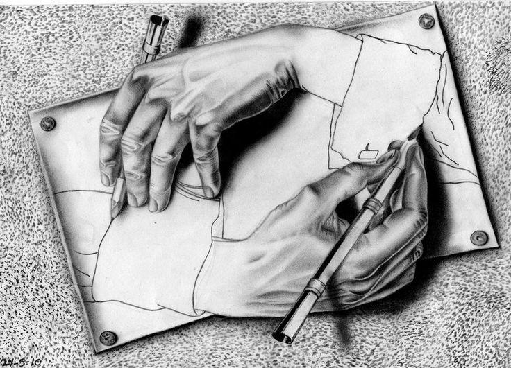 M.c.escher clipart finger On best ideas mc hands
