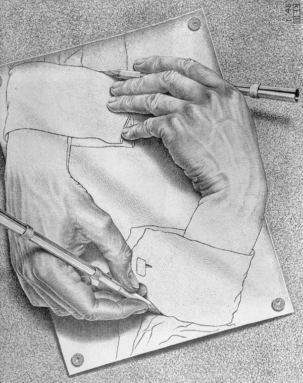 M.c.escher clipart finger Images on best Escher C
