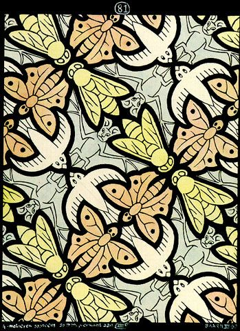 M.c.escher clipart flower MC '4 Escher Art (1950):