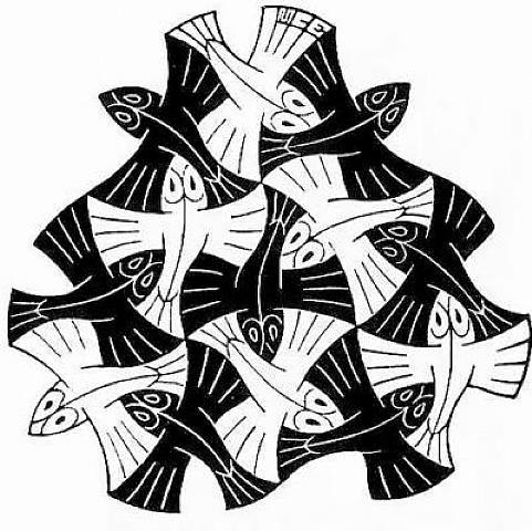 M.c.escher clipart flower Art fish  Foreman by