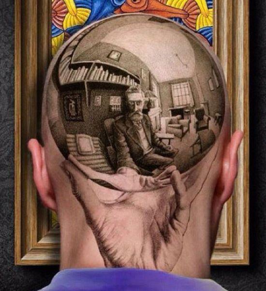 M.c.escher clipart glass Best head realistic Escher Dibujo