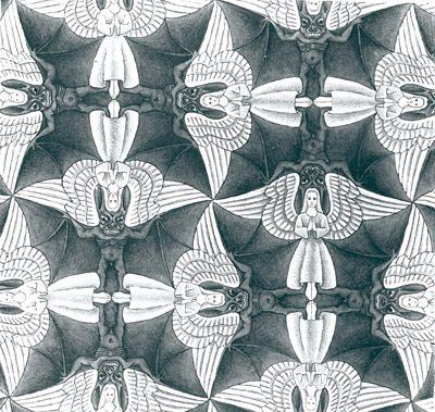 M.c.escher clipart halloween C best tessellation 267 M