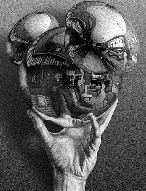 Drawn spheric escher Hand Cornelis cornelis sphere hands