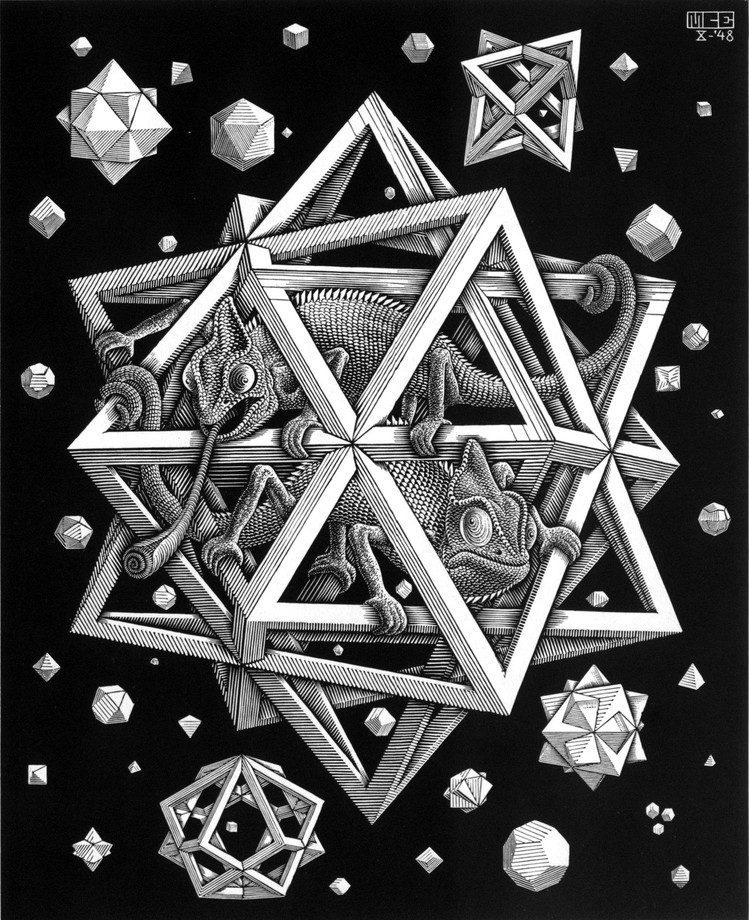 M.c.escher clipart king Is February M is Escher