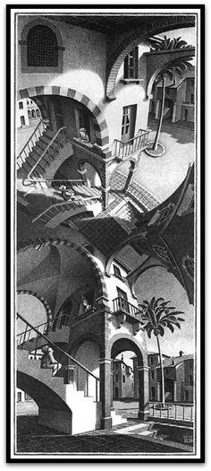 M.c.escher clipart magnifying glass Love Reflecting Escher stare can