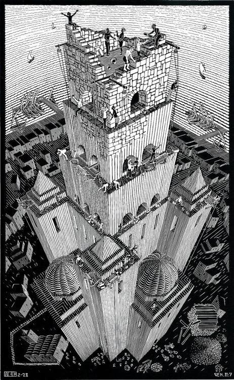M.c.escher clipart magnifying glass Grayscale Escher on images best