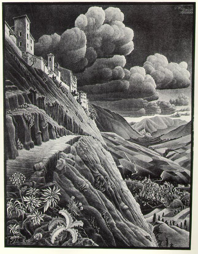 M.c.escher clipart rock Escher 62 Castrovalva Pinterest C