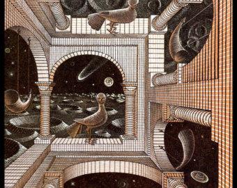 M.c.escher clipart sandwich 1947 Escher Etsy Vintage Circa
