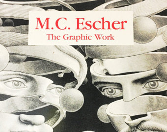 M.c.escher clipart sandwich Catalogue M Escher book Etsy