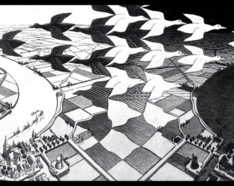 M.c.escher clipart sandwich 1938 MC Art Escher puzzle
