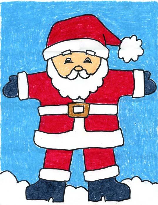 Drawn sanya simple Claus Projects Santa Art for