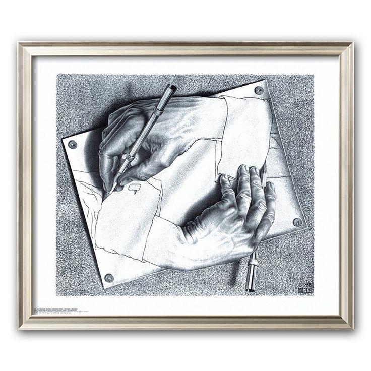 M.c.escher clipart shoe The escher Pinterest White C