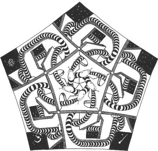 M.c.escher clipart snake Images M C 17 Escher