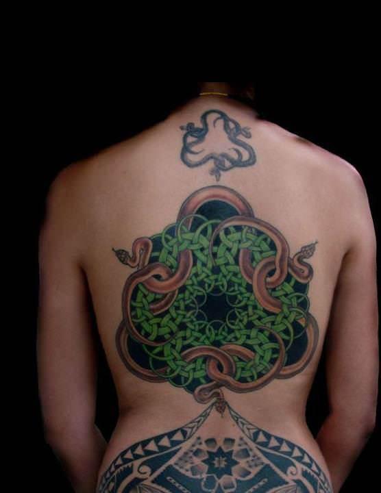 M.c.escher clipart snake MC tattoo celtic Body an