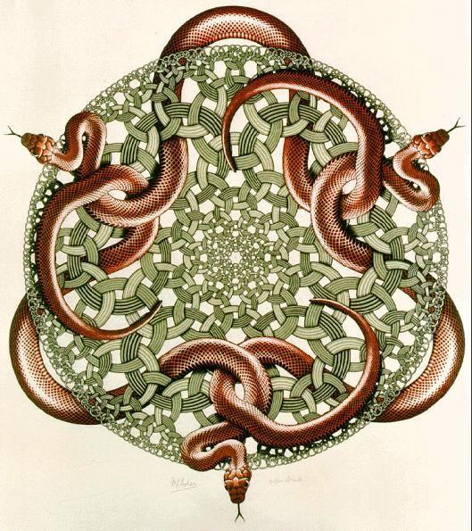 M.c.escher clipart snake Images The Art 45 Pinterest