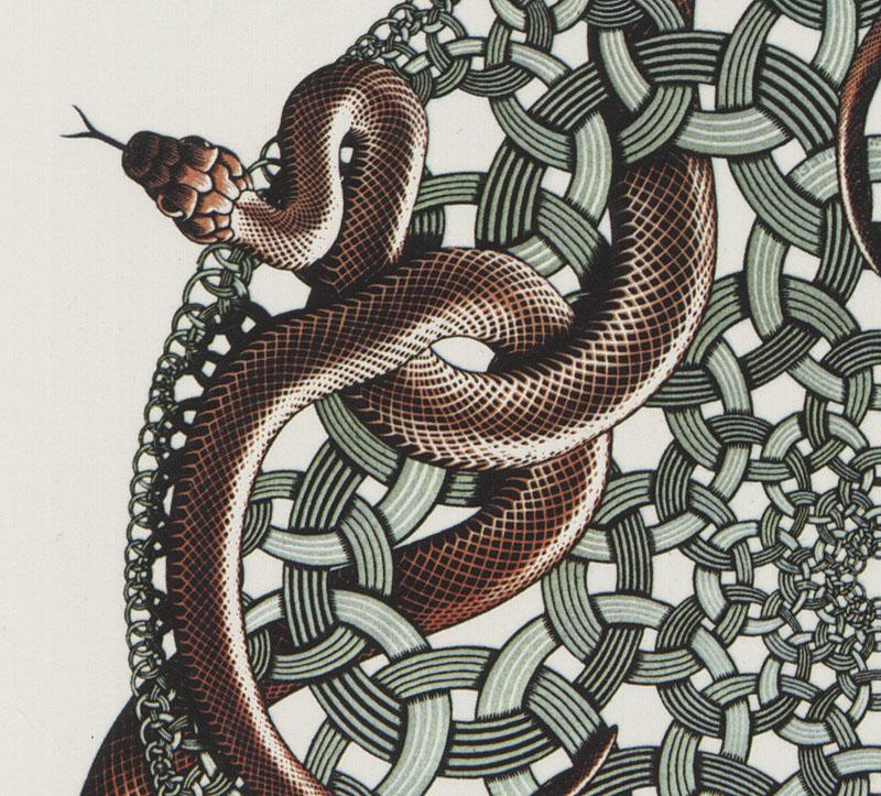 M.c.escher clipart snake That's the incredible shows Escher's