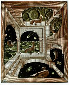 M.c.escher clipart snowman Escher: illusion by M