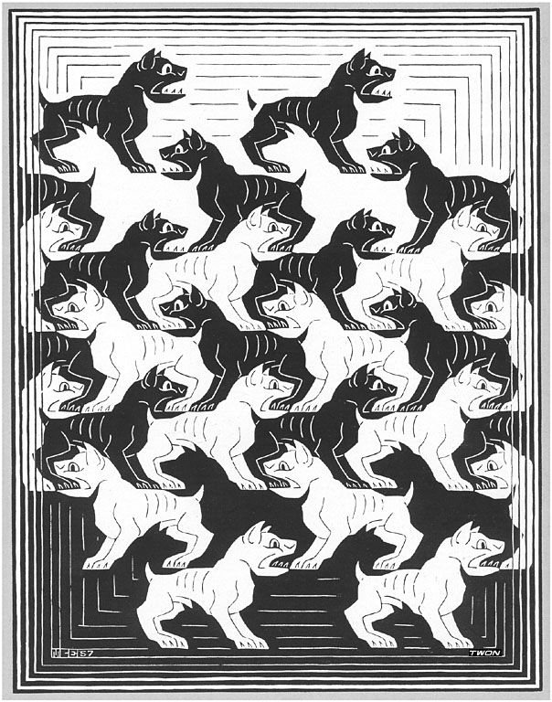 M.c.escher clipart snowman 92 Escher Escher 1957 Division