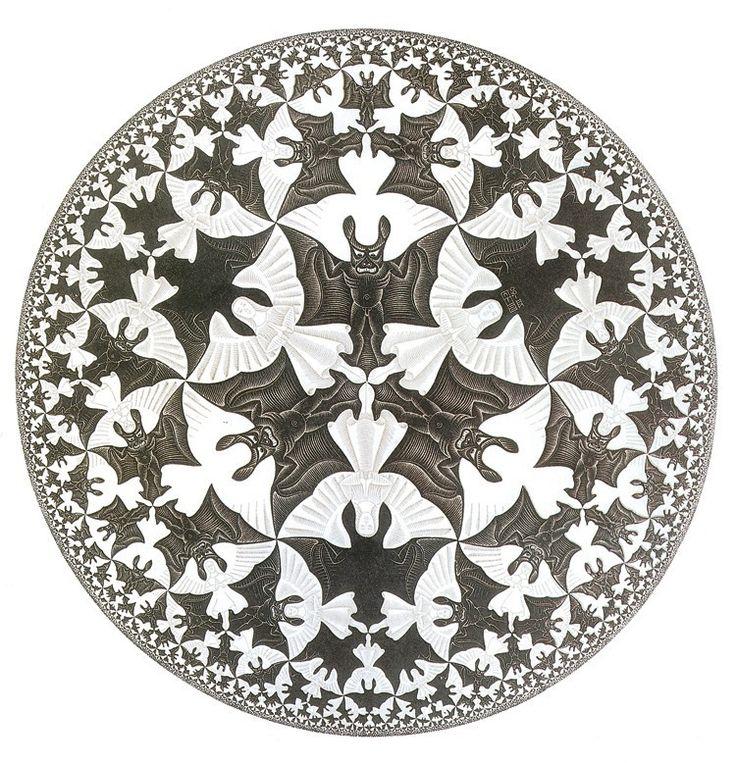 M.c.escher clipart starfish Woodcut Starfish on Hell 1960