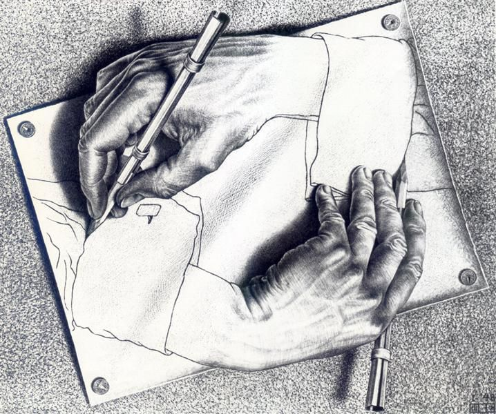 Drawn m.c.escher jessica rabbit Painting Escher ideas The Pinterest