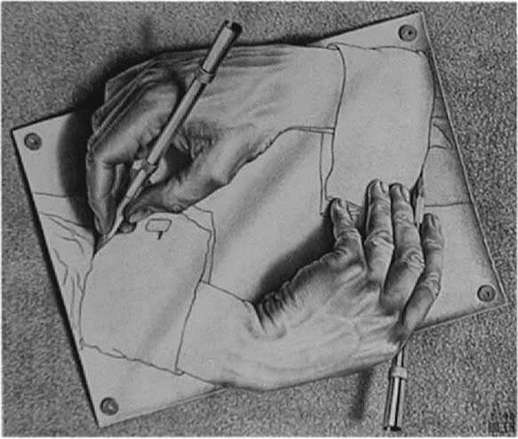 M.c.escher clipart tooth Teeth Rooster Hands jpg Escher