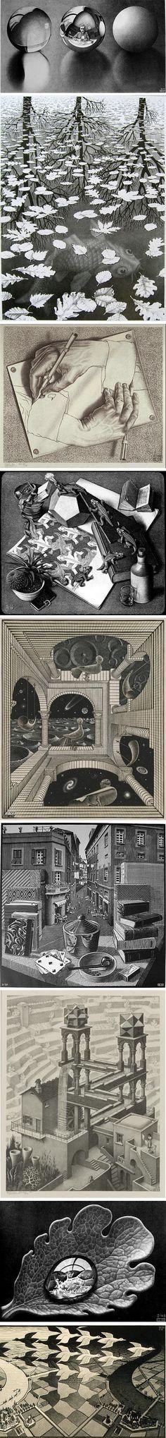 M.c.escher clipart tooth Clumsy Very Bach: Golden Escher